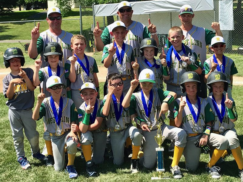 SUBMITTED PHOTO - The West Linn 9U baseball all-stars were No. 1 again over the weekend, winning four straight games and the tournament championship in Newberg.