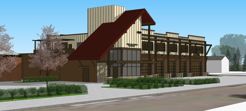 CONTRIBUTED PHOTO - Rendering of the new Sandy Fire Station.