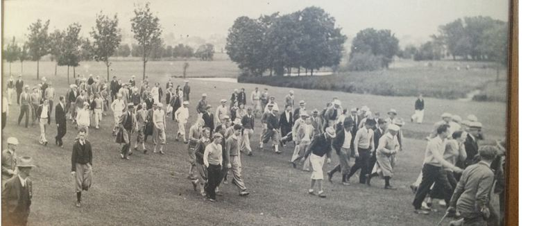 COURTESY: EASTMORELAND GOLF COURSE - Galleries stroll the fairways at Eastmoreland Golf Course during its early days as a top local tournament venue.