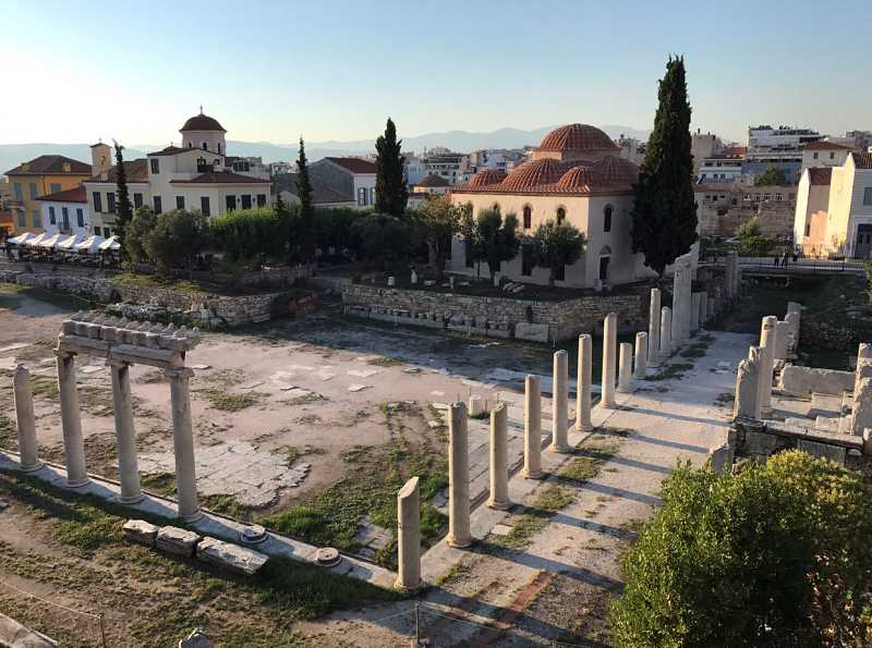 SUBMITTED PHOTO: SERENA ZHANG - Captured here is the Roman Agora in Athens, Greece, bathed in golden light.