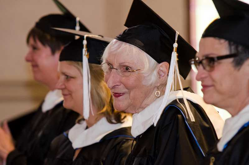 SUBMITTED PHOTO: MARYLHURST UNIVERSITY - Velda Metelmann has earned a bachelor's and two master's degrees from Marylhurst University, all coming more than six decades after she first entered a college classroom.