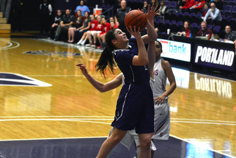 TIMES PHOTO: MATT SINGLEDECKER - Sunset senior Rose Pflug helped the Apollos make the Class 6A state tournament this season.