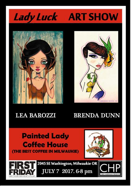 SUBMITTED PHOTO - Lea Barozzi and Brenda Dunn's artwork will be featured at Painting Lady Coffee, where an artist reception will be held at 6 p.m. on July 7.