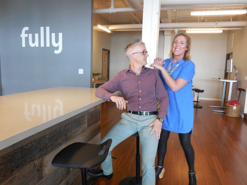PAMPLIN MEDIA GROUP: ADAM WICKHAM, JOSEPH GALLIVAN - David Kahl and Lauren Clandenning of Ergonomic furniture store Fully, which just opened a brick and mortar store on Southeast Water Avenue.