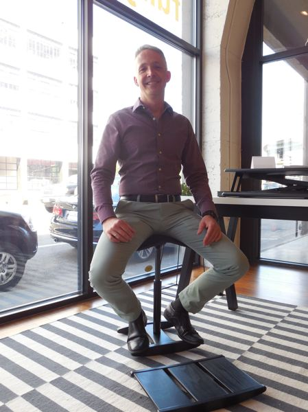 PAMPLIN MEDIA GROUP: JOSEPH GALLIVAN  - David Kahl, Founder and CEO of Fully, says the new Water Avenue showroom helps people learn about movement and office furniture. It can be used as an event space for free by designers and by certain friendly nonprofits.