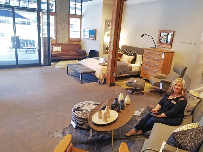 PAMPLIN MEDIA GROUP: JOSEPH GALLIVAN  - Laura Angel in the space at Room & Board where drink makers, cooks and craftspeople have presented their skills, to keep the store interesting for people in the furniture market.