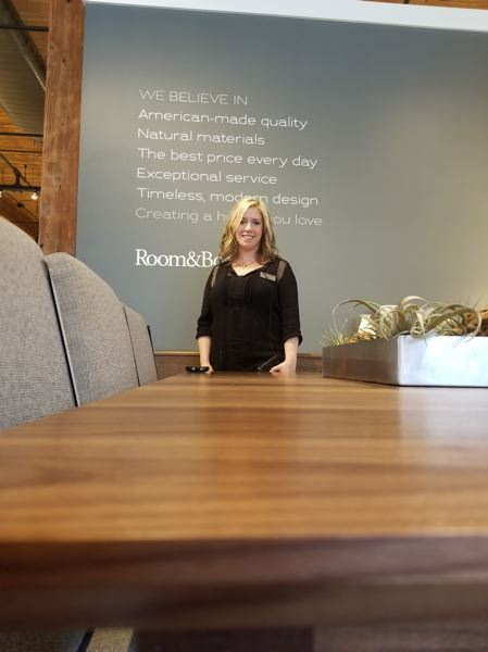PAMPLIN MEDIA GROUP: JOSEPH GALLIVAN  - Laura Angel at Room & Board, which invites makers in to attract customers.