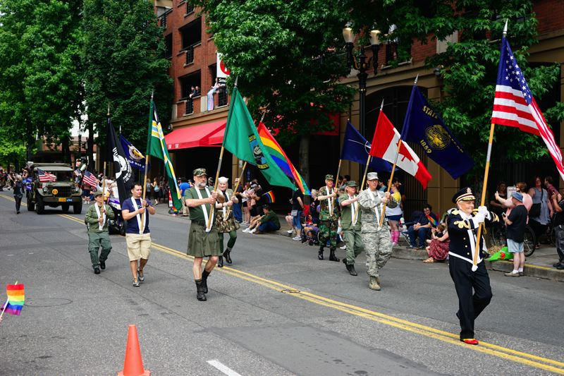 COURTESY NATHANIEL BOEHME - Boehme is the first known person to march in a pride parade in their military uniform in Oregon or Washington.