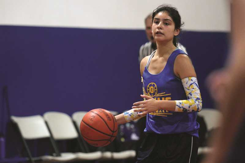 PHIL HAWKINS - Gervais wing Karina Ramos is one of five seniors returning to the Cougars this coming season as the team looks to build upon its run to the state tournament in February.