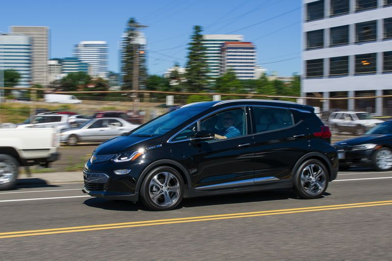 DOUG BERGER/NWAPA - The 2017 Chevy Bolt won two awards at this year's Drive Revolution competition in Portland, including Northwest Green Car of the Year.