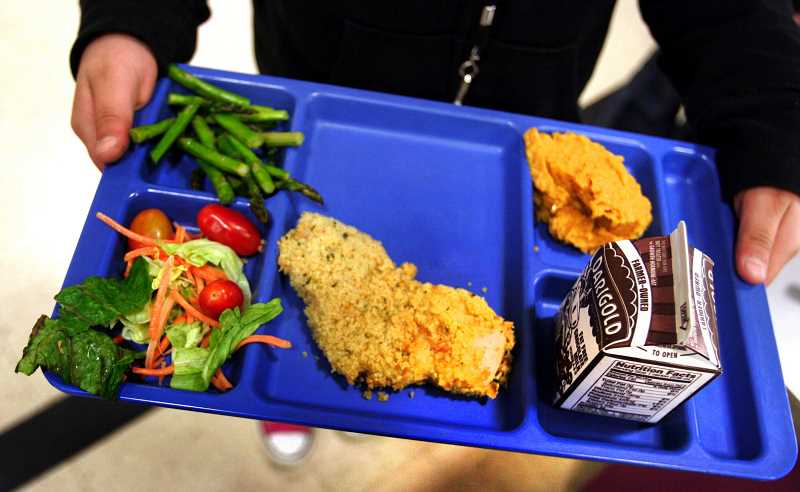 PAMPLIN FILE PHOTO - The West Linn-Wilsonville School District emphasizes healthy, with a salad bar and fruit options available with every meal.