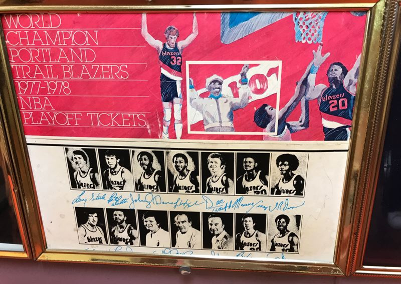 COURTESY: PAUL KNAULS - Portland businessman and Trail Blazers fan Paul Knauls was featured in this 1978 poster advertising NBA playoff tickets.