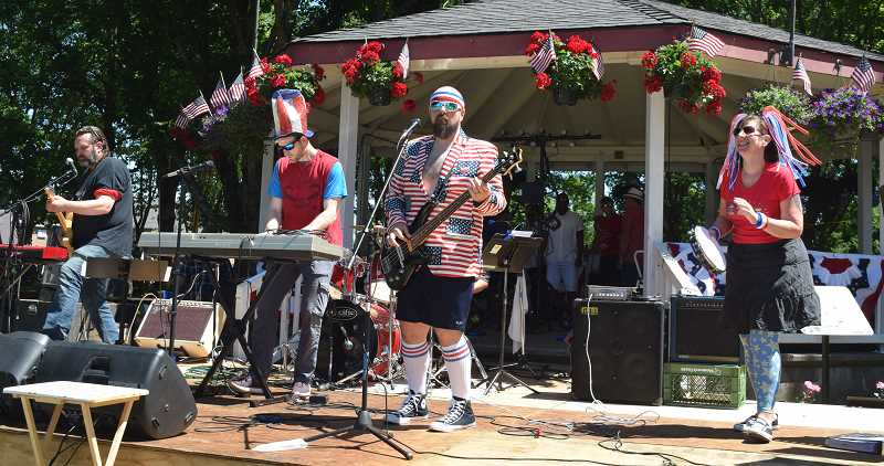 JOHN BAKER - The Canby Independence Day Celebration had plenty to offer, including a little music by a band that features faces many will recognize.