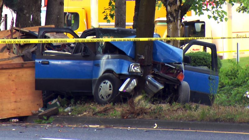 KOIN 6 NEWS - A passenger was killed when a vehicle crashed into a tree on Northeast Airport Way on July 3.