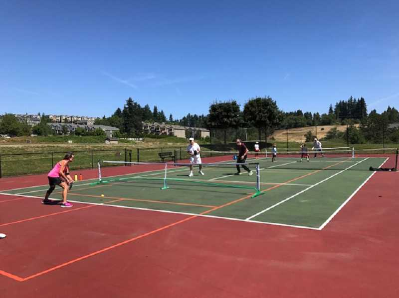 SUBMITTED PHOTO - Tom Meier says the beauty of pickleball is that it can be played by virtually all age groups.