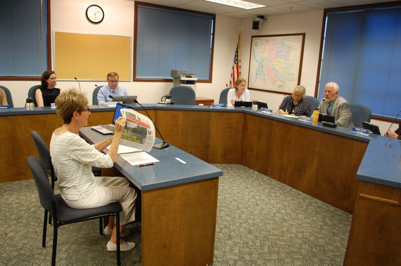 PHOTO BY: RAYMOND RENDLEMAN - Carolyn Tomei, a former state representative and Milwaukie mayor, discusses with City Council the case of Norma Gabriel getting killed by a FedEx truck.