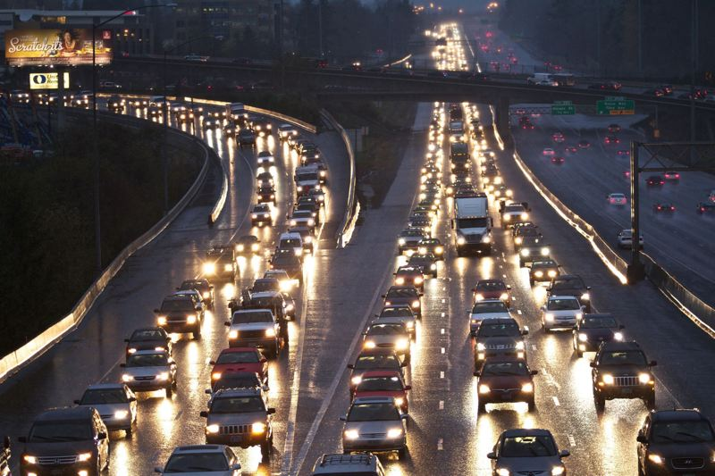 FILE PHOTO - Rush-hour gridlock on Highway 217 through Beaverton has been identified as one of the problems to be addressed in the Legislature's wide-ranging transportation bill.