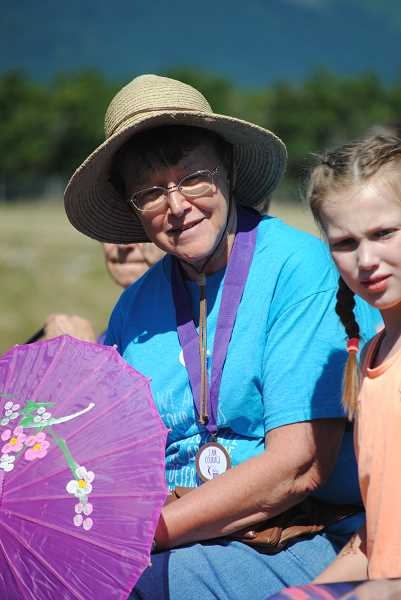 Eldena VanderZanden, who has participated in the relay for 16 years, got this year's 'Spirit of the Relay' award.