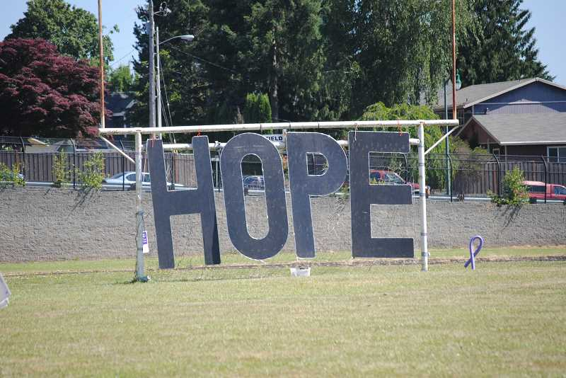Hope--and the search for a cure--were prevailing themes at the relay.