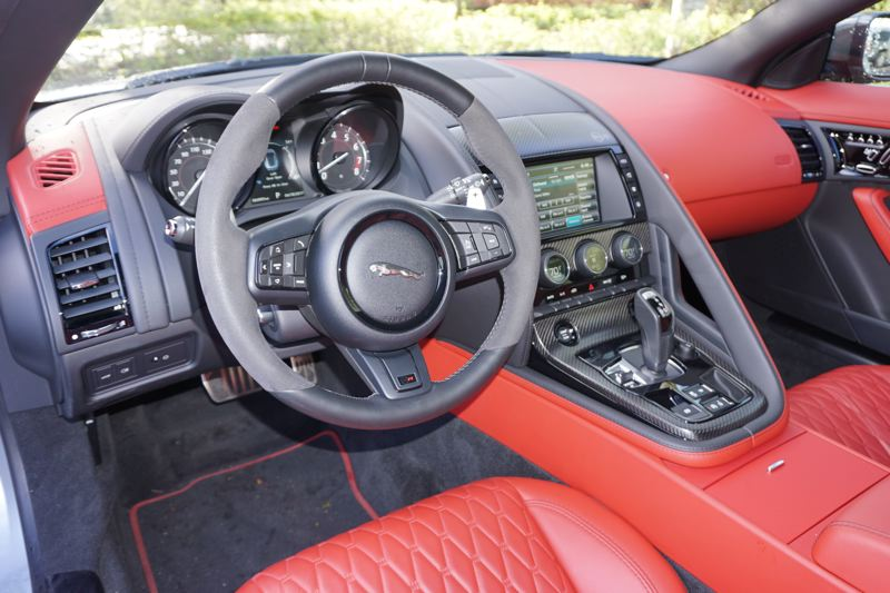 PORTLAND TRIBUNE: JEFF ZURSCHMEIDE - Not only is the cockpit of the 2017 Jaguar F-Type SRV oriented towards the driver, it is equipped with practically every automotive technology available.