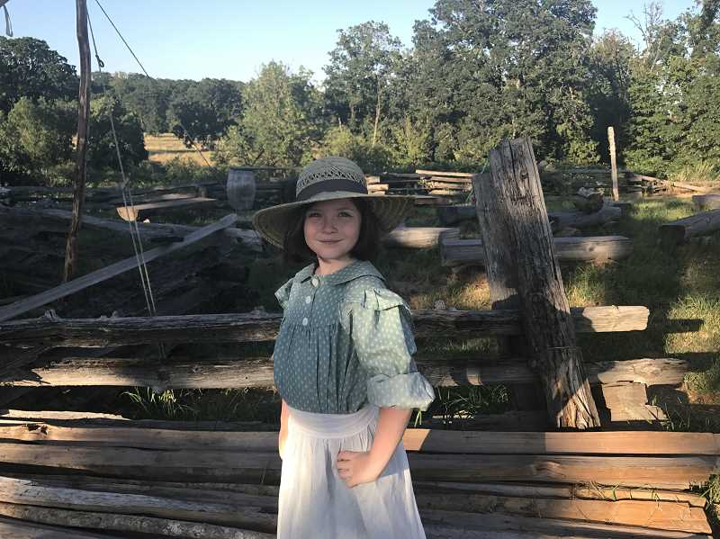 SPOKESMAN PHOTO: MADISON STATEN - Diana Rosewood poses in Champoeg State Park at the barn dance.
