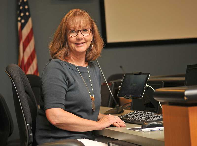 SPOKESMAN PHOTO: VERN UYETAKE - Sandy King has recorded Wilsonville's history through meeting minutes for more than 20 years.