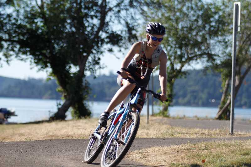 HILLSBORO TRIBUNE PHOTO: WADE EVANSON - The off-road sprint triathlon offers a twist to the traditional sprint triathlon, with trail run and bicycle courses for participants.
