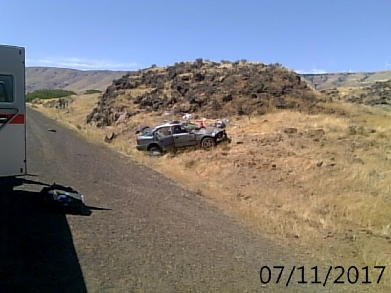 CONTRIBUTED PHOTO: OREGON STATE POLICE  - Effie P. Burns 22, was fatally injured Tuesday afternoon when police say she lost control of the 1996 Honda Civic she was driving westbound on Interstate 84 in Gilliam County and the car left the roadway.
