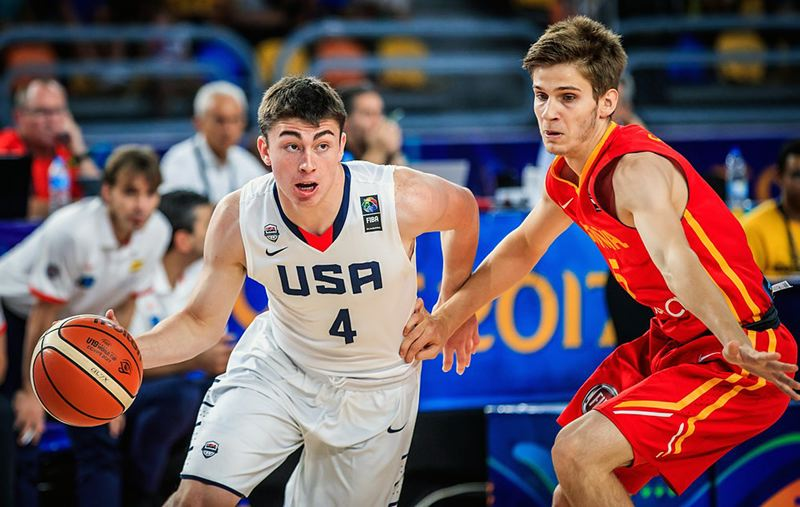 COURTESY: FIBA - West Linn High graduate Payton Pritchard competes against Canada in the FIBA Under-19 World Cup in Cairo, Egypt.