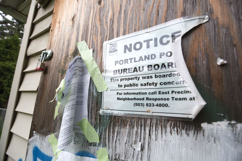 PORTLAND TRIBUNE: JONATHAN HOUSE - The City Council voted to foreclose on this abandoned house after previous owners did not pay off numerous fines for code violations.