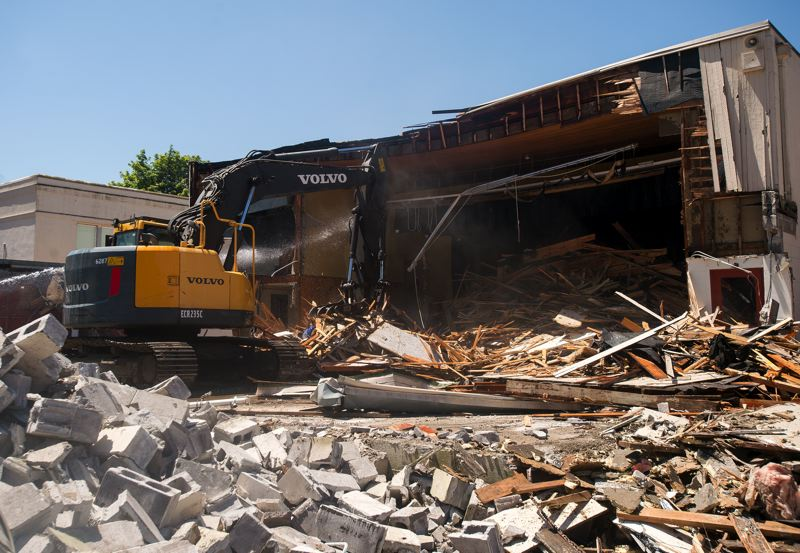 OUTLOOK PHOTO: JOSH KULLA  - It will take about five working days for the gym to be completely razed.