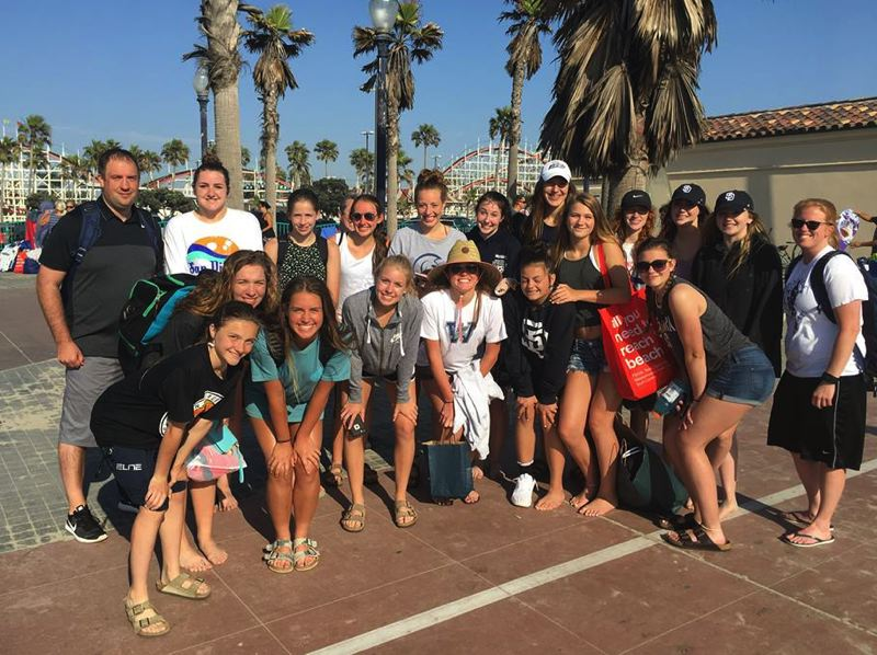 SUBMITTED PHOTO - The Wilsonville girls basketball team poses for a photo during their trip to San Diego.