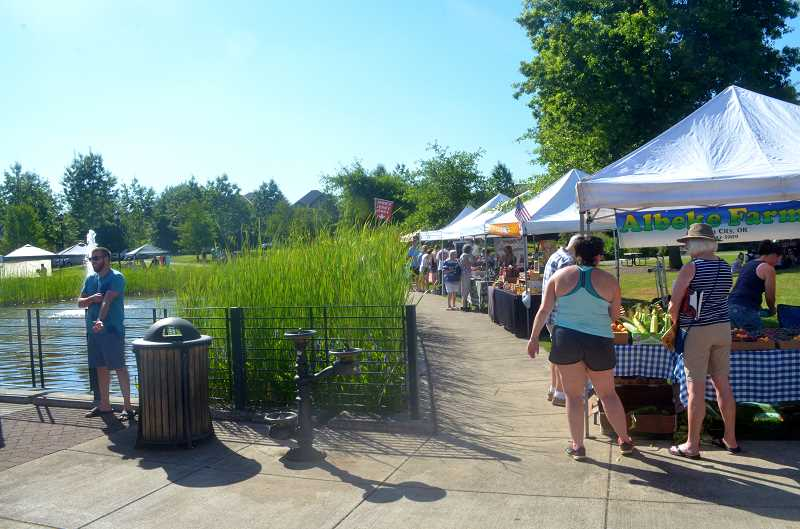 Wilsonville Farmers Market is held Thursday afternoons in Villebois.