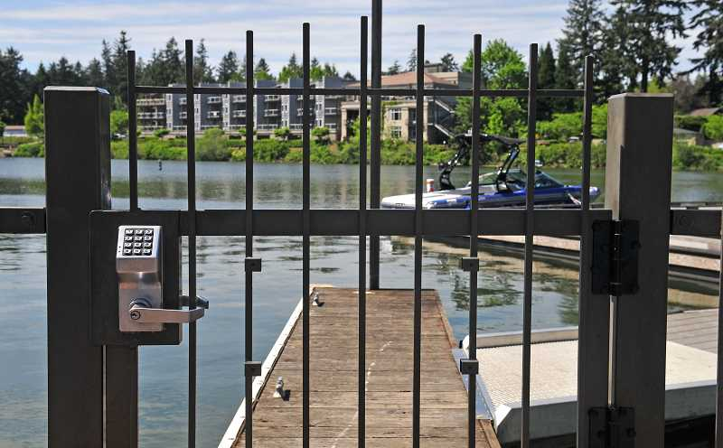 REVIEW FILE PHOTO: VERN UYETAKE - The Oregon Court of Appeals ruled in May that the City of Lake Oswego has the right to restrict public access to Oswego Lake from City-owned parks such as Sundeleaf Plaza, Millennium Plaza and the Headlee Walkway.