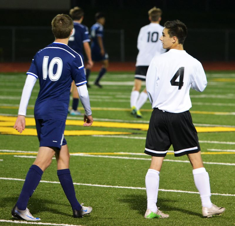 SPOTLIGHT PHOTO: JAKE MCNEAL - Lions forwards Gabe Compton (4), Alex Ramos, Pacey Littleton and defender Daniel Lujano, all seniors, look for their team's first win since the season finale in 2015.