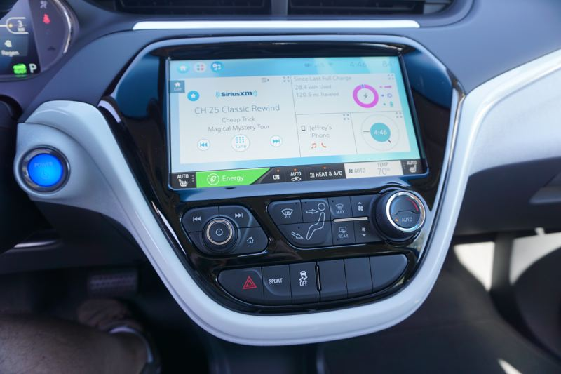 PORTLAND TRIBUNE: JEFF ZURSCHMEIDE - The infotainment system in the 2017 Chevy Bolt EV is both advanced and easy to use.