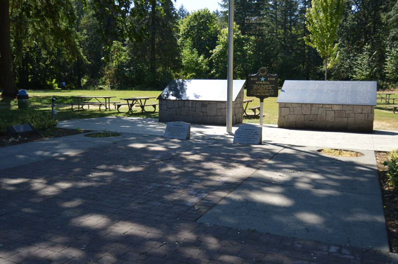 SPOTLIGHT PHOTO: NICOLE THILL - The Veterans Memorial in McCormick Park has been without its World War II 105-mm Howitzer cannon for more than 18 months after it was taken in February 2016. A court case filed against the man accused of taking it delayed its return. Currently, the cannon is undergoing decomissioning procedures locally, but it is unclear how long that process will take.