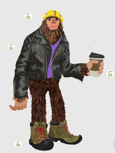 SUBMITTED: TRAVEL PORTLAND - ThinkShouts You-Can-O-Mizer accessorizes a sasquatch people can spin to see 1,296 possibilities, all connected to activities you can do in and around Portland.