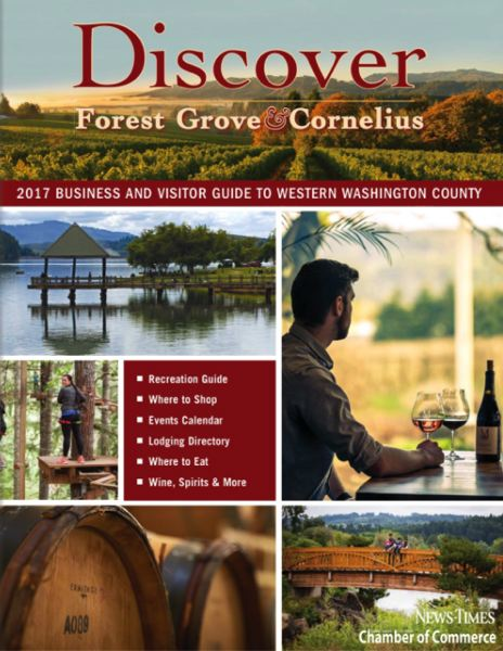 (Image is Clickable Link) Discover Forest Grove Cornelius 2017 Guide