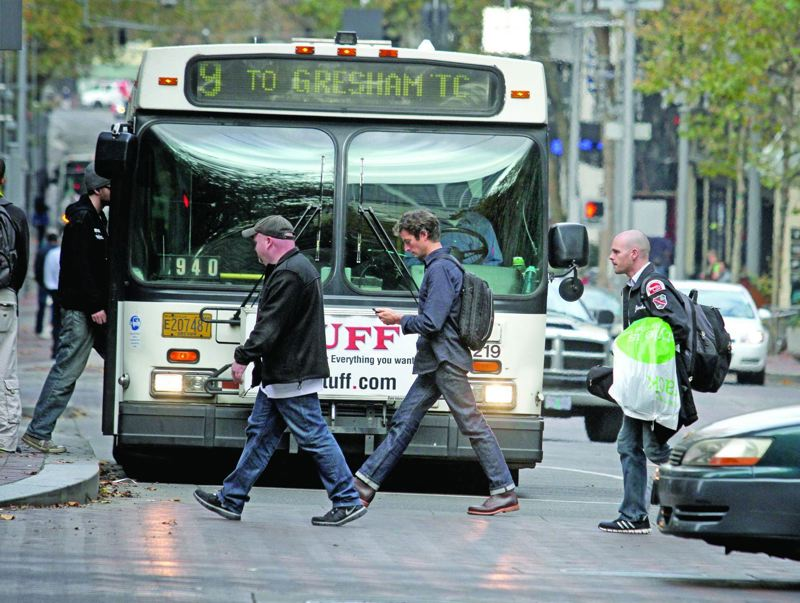 TRIBUNE FILE PHOTO - A new study shows that more people are walking in downtown Portland