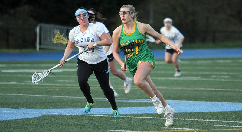 TIDINGS PHOTOS - West Linn's Morgan Finklea put together a stellar senior season in 2017 and won a place on the All-American, first-team all-state and first-team all-Three Rivers League teams.