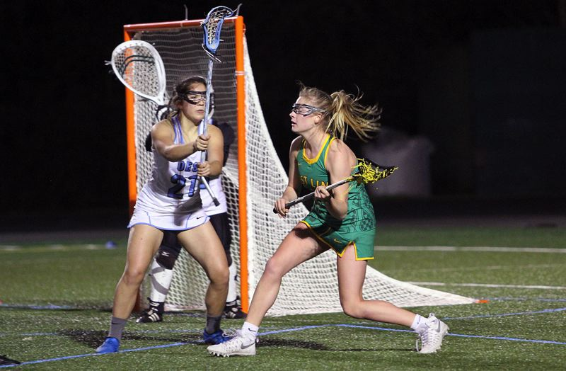 TIDINGS FILE PHOTO - West Linn's Morgan Finklea (here in action against Oregon Episcopal School) was one of six Oregon players named as a 2017 All-American.