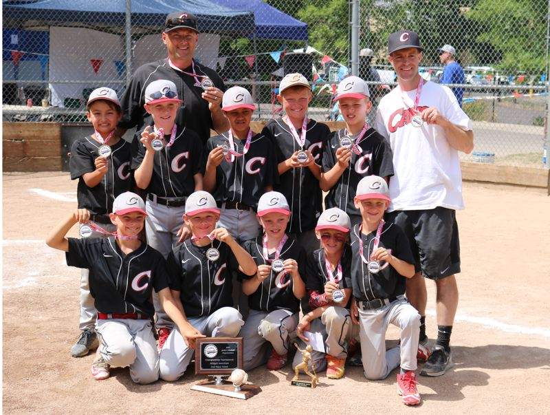 REVIEW/NEWS PHOTO: JIM BESEDA - Clackamas finished second at the Junior Baseball Organization Midget American championship tournament after dropping a 6-4 decision to Central in Sunday's final in Beaverton.