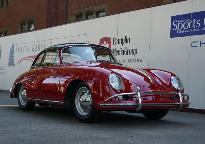 PORTLAND TRIBUNE: JEFF ZURSHMEIDE - rnie Spada of Lake Oswego restored this classic 1956 Porsche 356A with removable hardtop to win Best Open Car at the Concours.