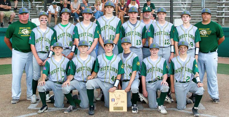 COURTESY BRAD CANTOR, PHOTO SPORTS NWCOURTESY BRAD CANTOR, PHOTO SPORTS NWCOURTESY BRAD CANTOR, PHOTO SPORTS NW - The West Linn 14U Babe Ruth all-stars won the North Oregon state championship on Saturday at West Linn High School. The team includes (front row, from left) C.J. Jones, Colin Driscoll, Blake DeBisschop, Gavin Turner, Adam Simshauser and Caden Parker, and (back row) coach Ray Pearson, Parker Stevenson, Gavin Haines, Ryan Talavs, Mitchell Duea, Kyle Sullivan, coach Tim Driscoll, Zac Hoover, Clay Masters and coach Rob Hoover.