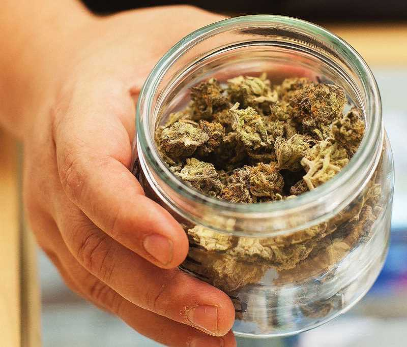 GAZETTE FILE PHOTO - Sherwood voters will get a chance in November to determine if they want to approve the sale of recreational marijuana within the city limits. Last November, voters approved the ban on recreational marijuana sales with 56.4 percent voting in favor of not allowing sales in the city.