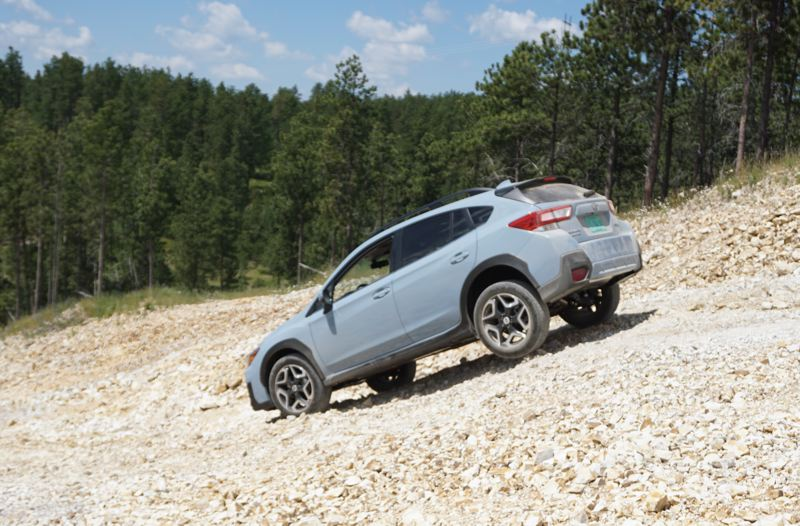 PORTLAND TRIBUNE: JEFF ZURSCHMEIDE - The optional X-mode with the 2018 Subaru Crosstrek helps with off-road driving and included hill descent control.
