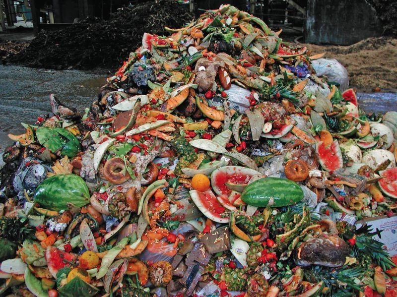 COURTESY METRO - Food scraps pile up at a Metro transfer center. The agency wants to turn the scraps into renewable energy, or perhaps compost, instead of burying it in the landfill.