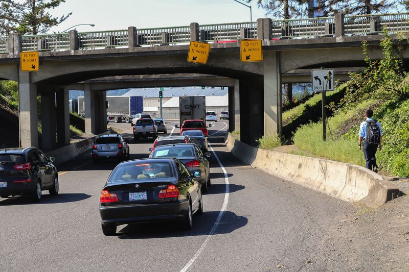 OUTLOOK FILE PHOTO: ZANE SPARLING - Oregon Department of Transportation officials say the Interstate 84 overpasses at Graham Road in Troutdale are crumbling and need to be replaced soon.