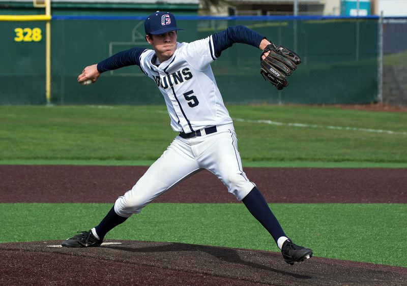 COURTESY GEORGE FOX ATHLETICS - Lake Oswego grad Matt Voelzke was a force as a pitcher, too, leading his team in appearances, ERA and saves as the team's closer.